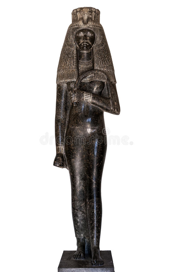 Statue of Queen Tuya stock photos