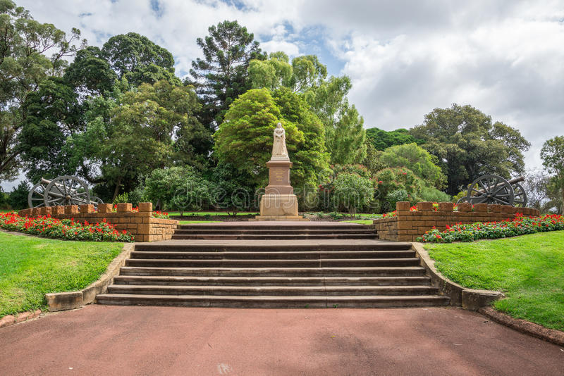 A statue of Queen Victoria in Kings Park and Botanical Gardens in Perth. Western Australia stock photography