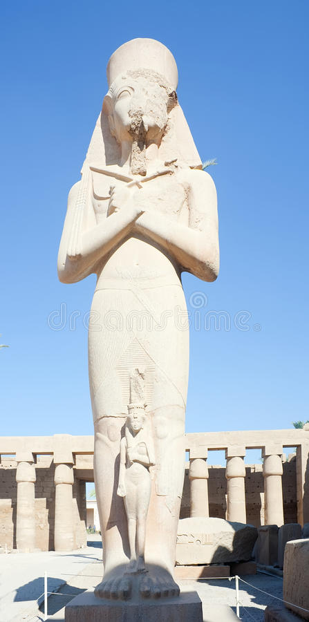 Statue Of Ramses II In Karnak Temple Stock Photography