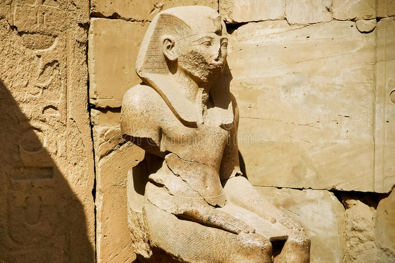The Statue of Ramses in Karnak Temple. Luxor, Egypt royalty free stock photography