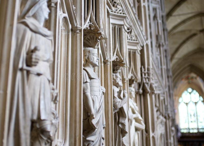 Statue religiose della cattedrale della Winchester immagini stock libere da diritti