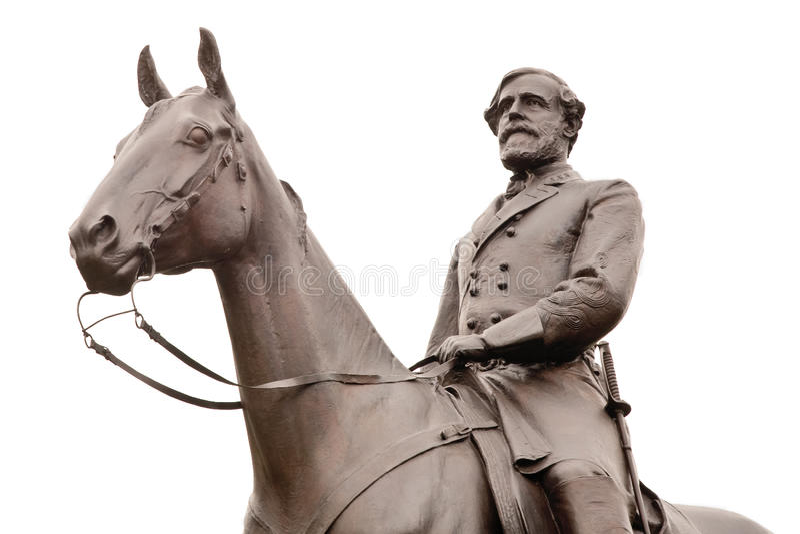 Statue Robert-E. Lee in Gettysburg, getrennt stockfotografie