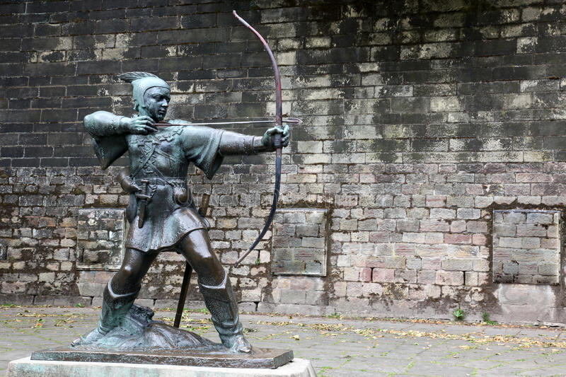 Download Statue Of Robin Hood stock image. Image of english, holiday - 27706697