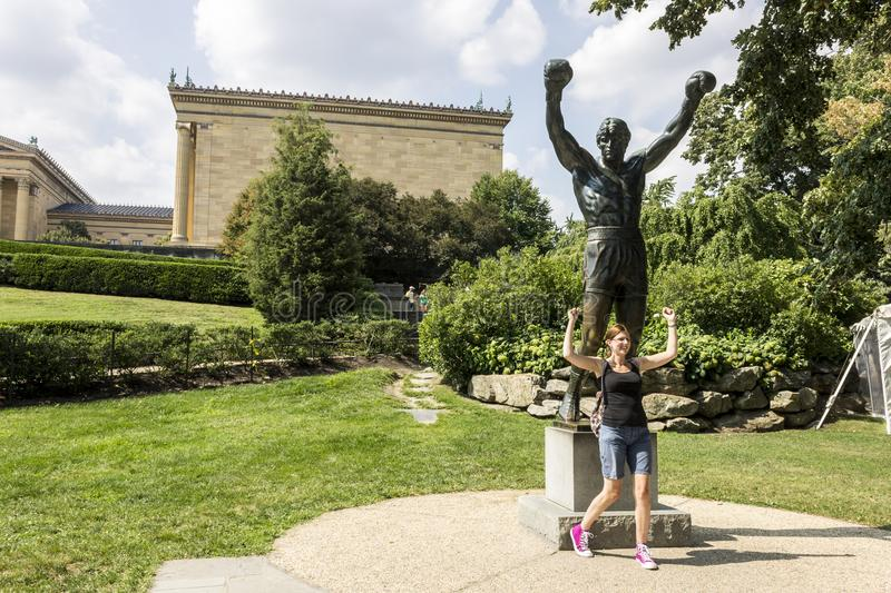 Statue rocheuse, Philadelphie images stock