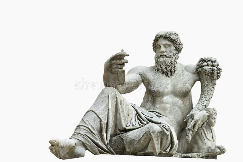 Statue romaine d'isolement photographie stock