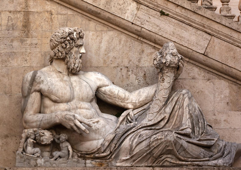 statue romaine de Rome de côte de capitoline photos stock