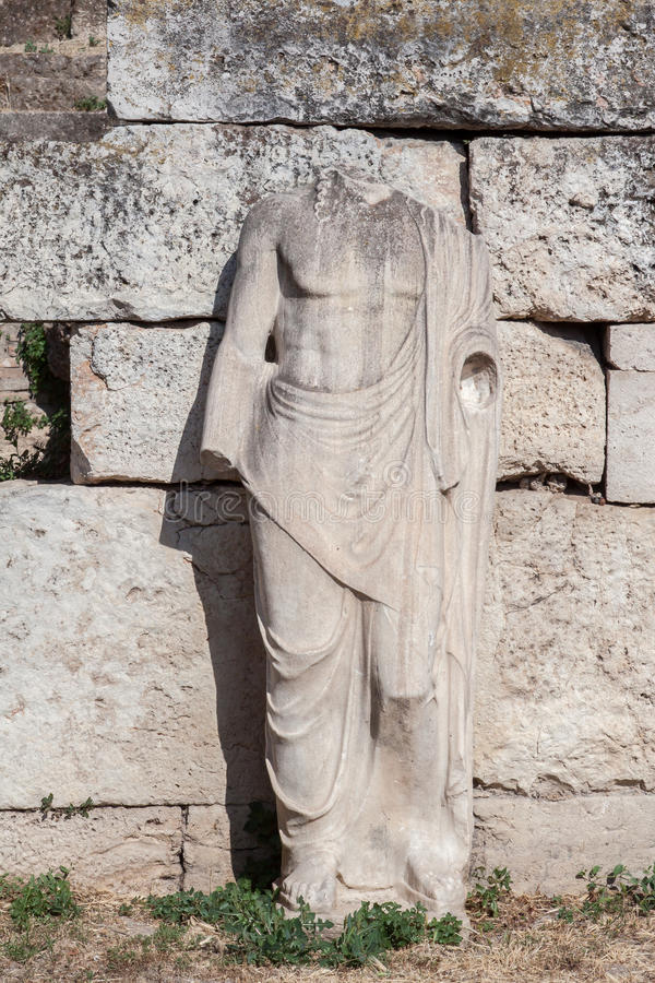 Download Statue In Roman Agora Athens Stock Image - Image: 26642263