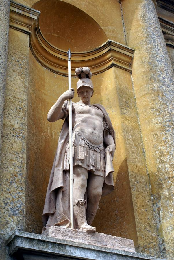 Statue of a Roman fighter, guardian, worrier, or soldier royalty free stock image