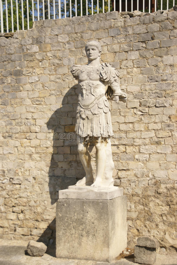 Download Statue of Roman general stock photo. Image of historical - 25805576