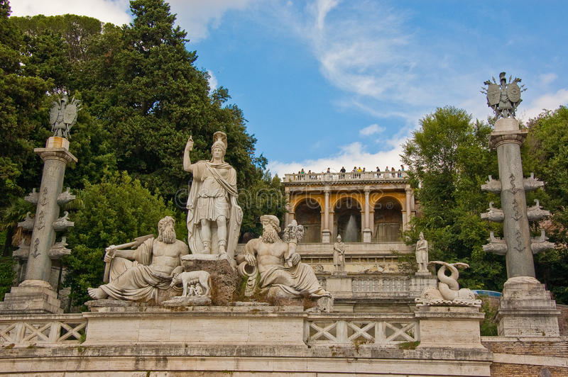 Statue romane fotografia stock
