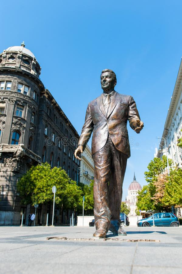 Statue of Ronald Reagan royalty free stock photos