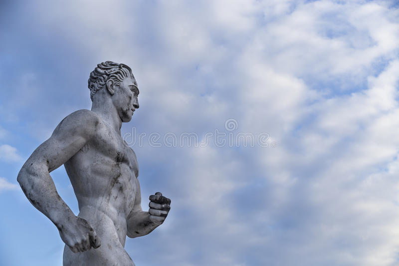 Statue of a runner royalty free stock photography
