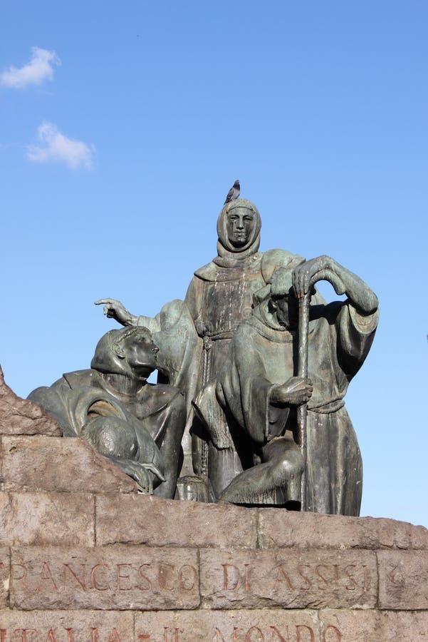 Statue of Saint Francis stock photo