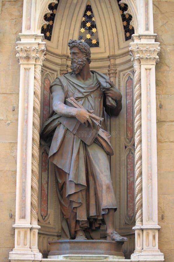 Statue of Saint Lucas stock image