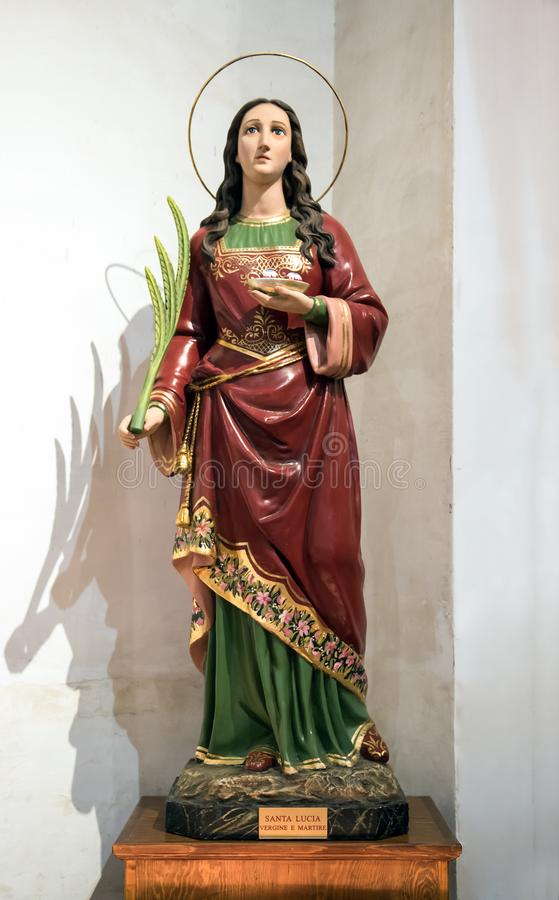 Statue of Saint Lucy or Saint Lucia of Syracuse royalty free stock image