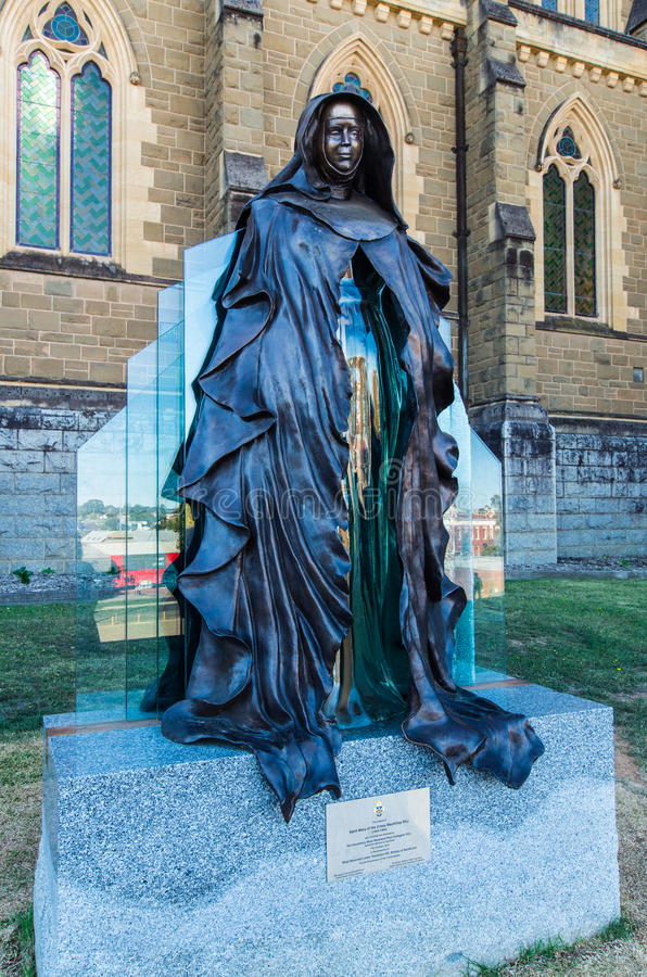 Statue of Saint Mary Mackillop in Bendigo, Australia stock photos