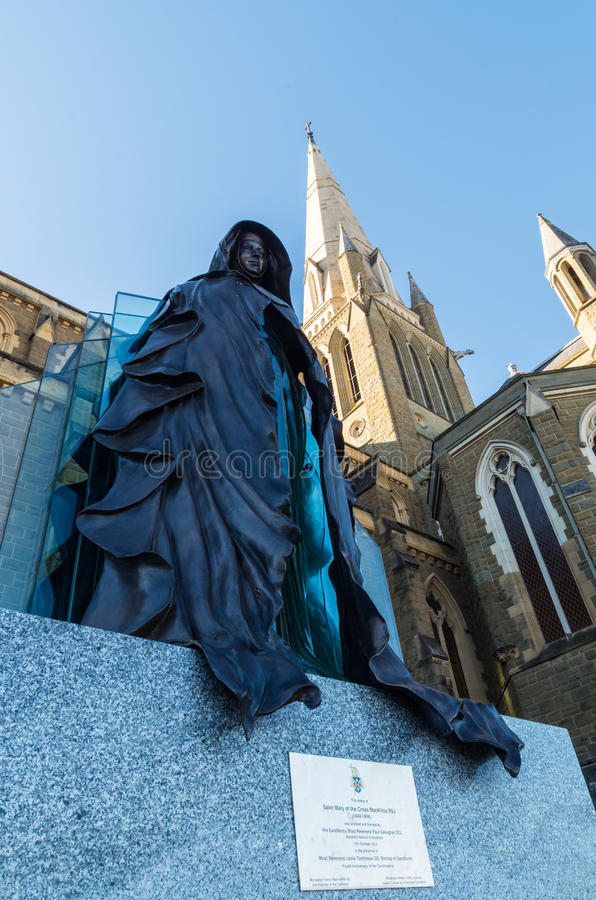 Statue of Saint Mary Mackillop in Bendigo, Australia royalty free stock photo