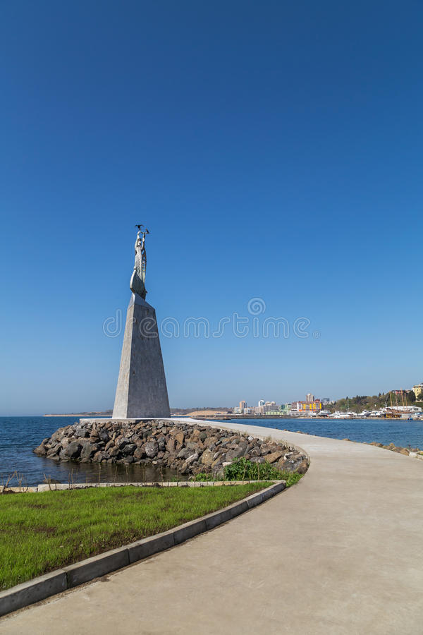 Statue of Saint Nicholas in Nessebar royalty free stock photos