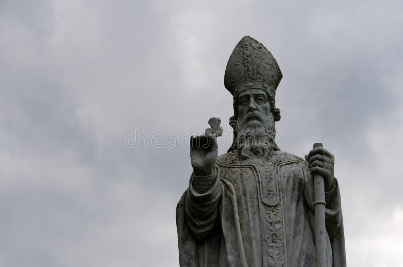 Statue of Saint Patrick royalty free stock image
