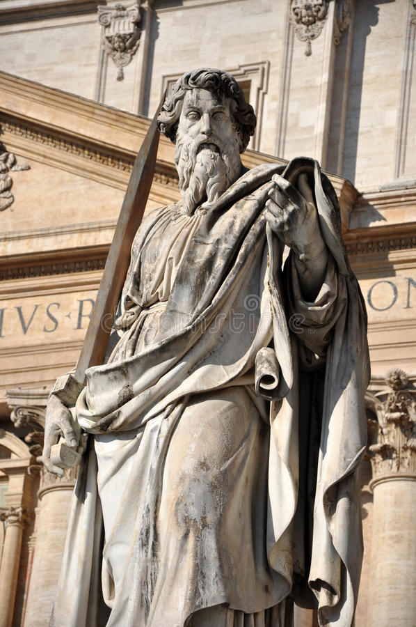 Statue of Saint Paul the Apostle stock photos