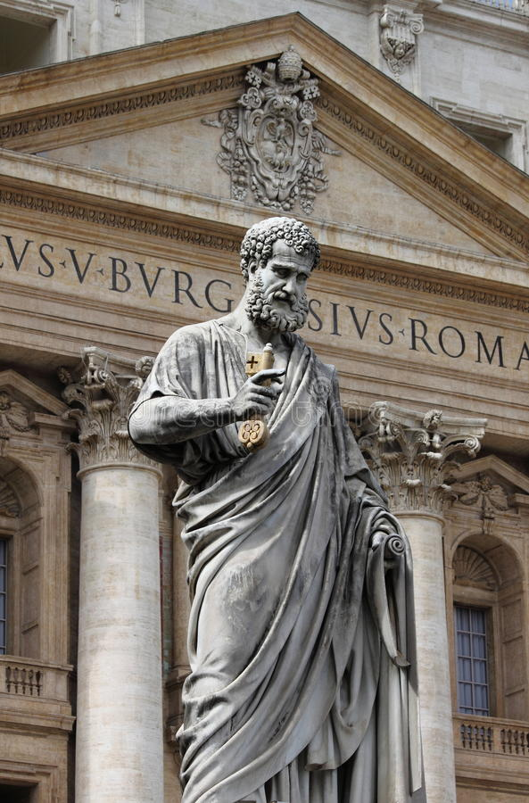 Statue of Saint Peter the Apostle stock image