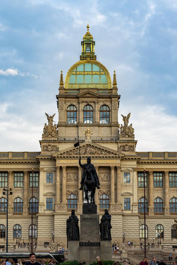 Statue of Saint Wenceslas Prague in Czech Republic. Statue of Saint Wenceslas Prague in Czech Republic stock photo
