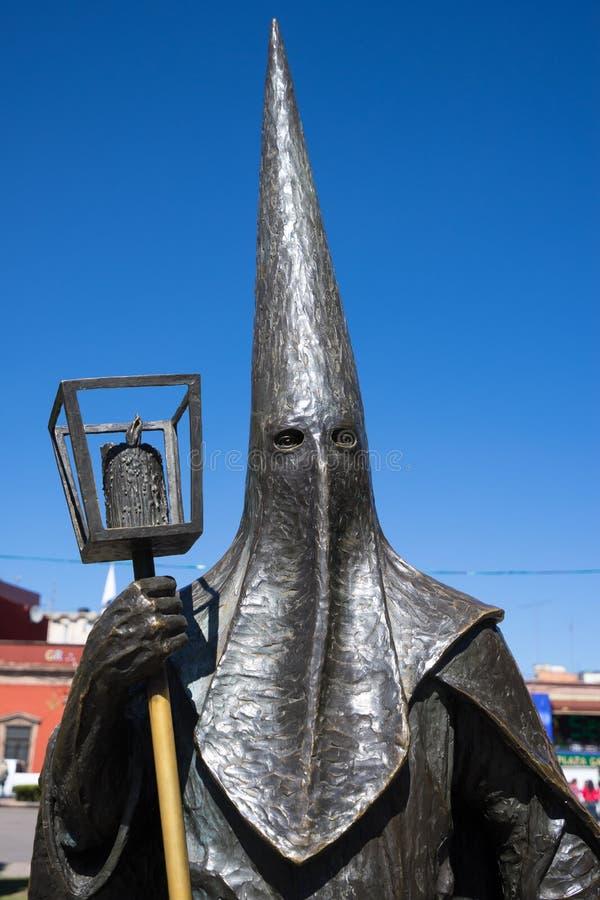 Statue San Luis Potosi Mexico de Procesion del Silencio photos libres de droits