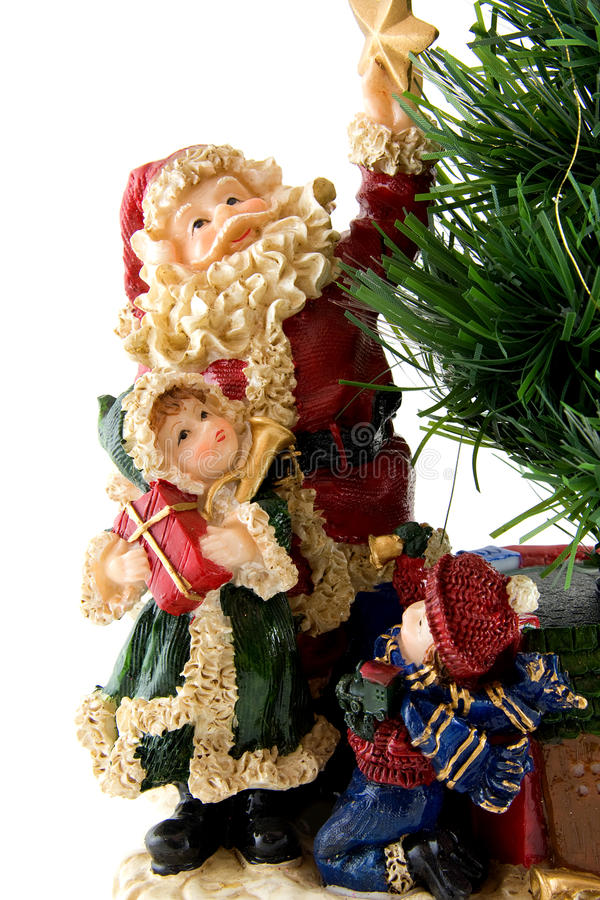 Download Statue Of Santa Claus With Children Stock Photo - Image: 12213270