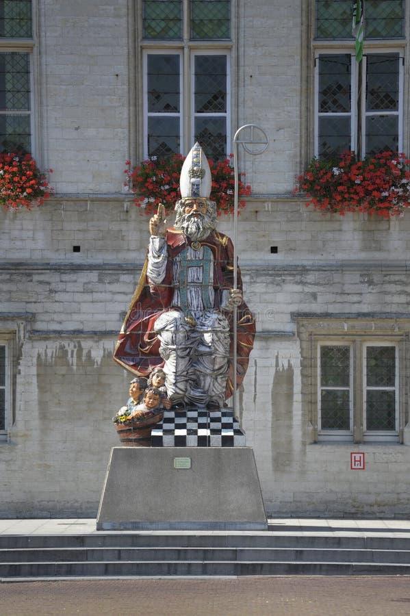 Statue of Santa Claus in Sint Niklaas Belgium. In summer stock photography