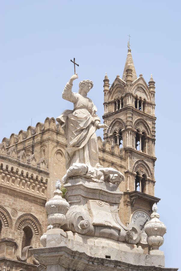 Download Statue Of Santa Rosalia, Cathedral Of Palermo Stock Image - Image: 27038503