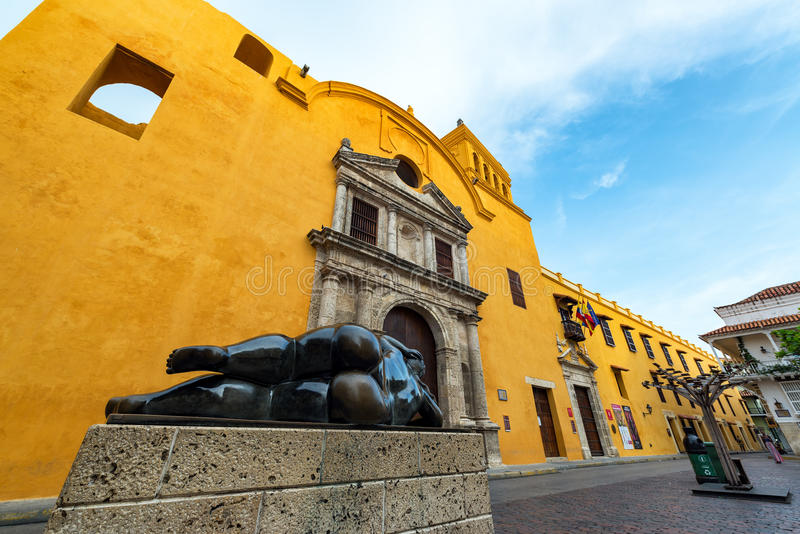 Statue and Santo Domingo Church royalty free stock photos
