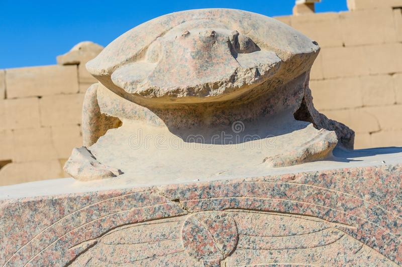 Statue of the scarab beetle in Karnak temple. Luxor, Egypt. Statue of scarab beetle in Karnak temple. Luxor, Egypt stock images