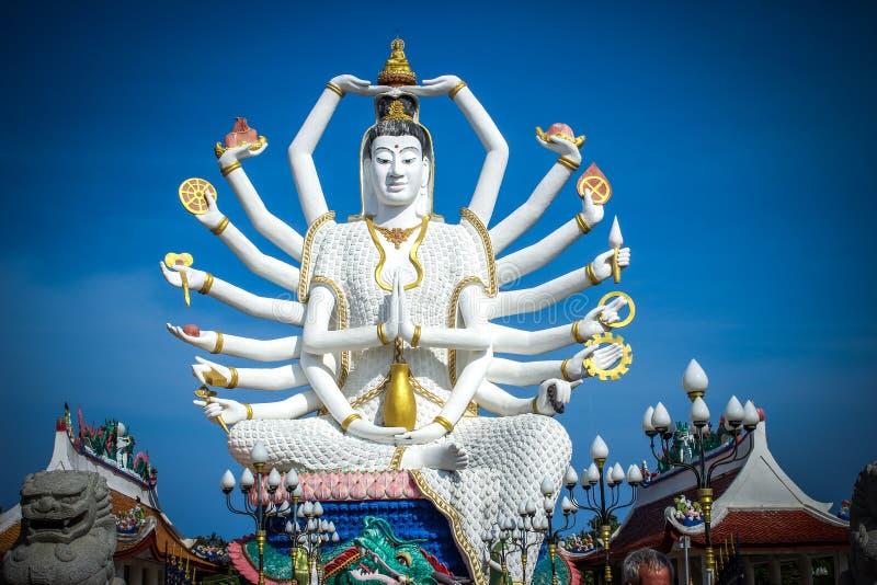Statue of Shiva on Koh Samui royalty free stock photography