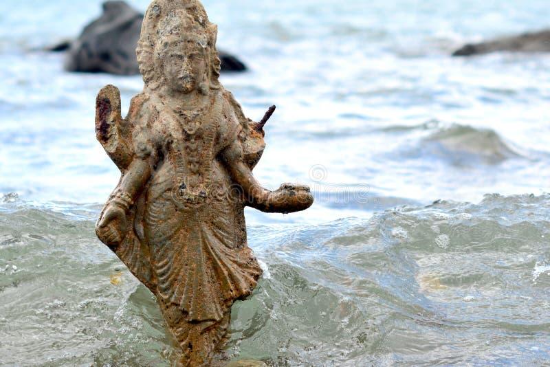 Statue of Shiva in Mauritius stock photo