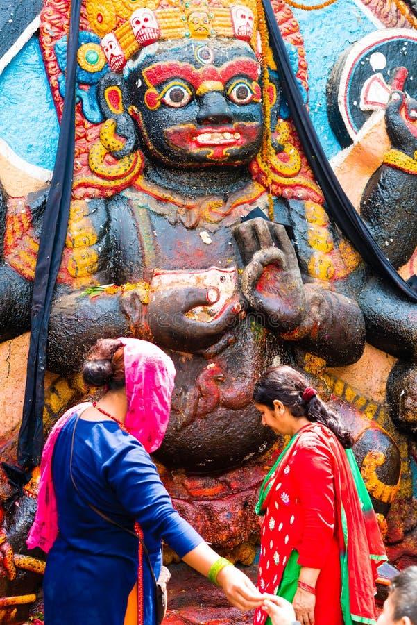 Kal Bhairav At Kathmandu Durbar Square, Nepal Editorial