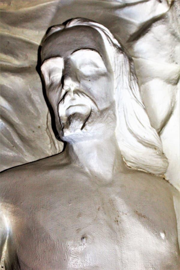 The Shrine of Saint Joseph of the Mountains, Yarnell, Arizona, United States. Statue at The Shrine of Saint Joseph of the Mountains located in Yarnell, Arizona royalty free stock photos