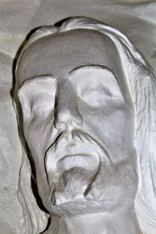 The Shrine of Saint Joseph of the Mountains, Yarnell, Arizona, United States. Statue at The Shrine of Saint Joseph of the Mountains located in Yarnell, Arizona royalty free stock photography