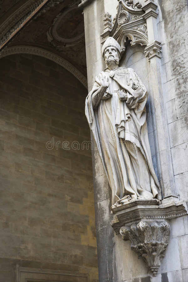 Download Statue On Side Of Italian Church. Stock Image - Image: 2042073