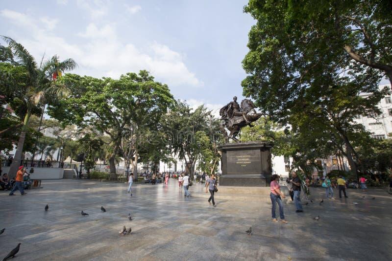 Statue Simon Bolivar stockfotos