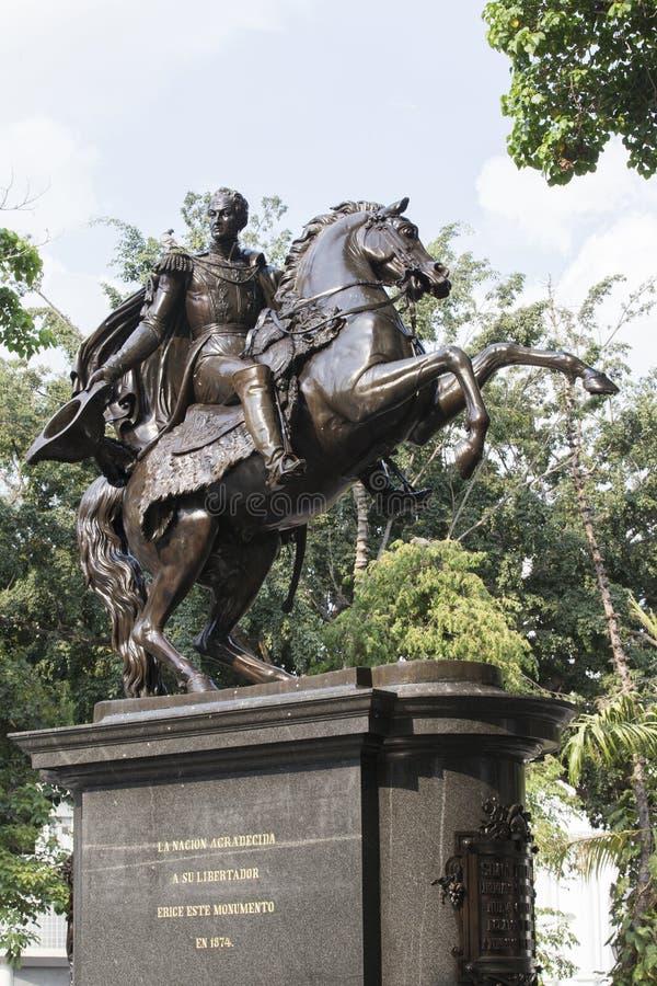 Statue simon bolivar. Statue of simon bolivar in caracas, venezuela royalty free stock image