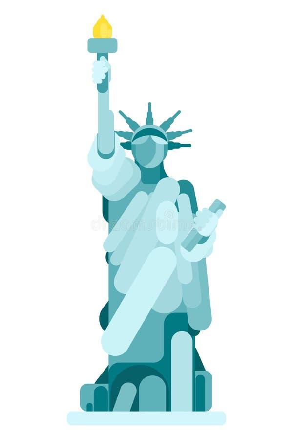 Statue simple du monument américain de la liberté illustration libre de droits