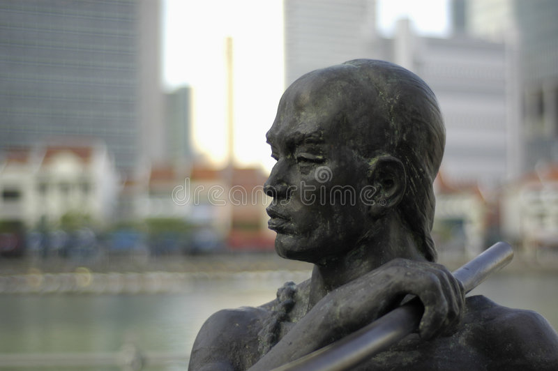 Statue In Singapore Royalty Free Stock Image