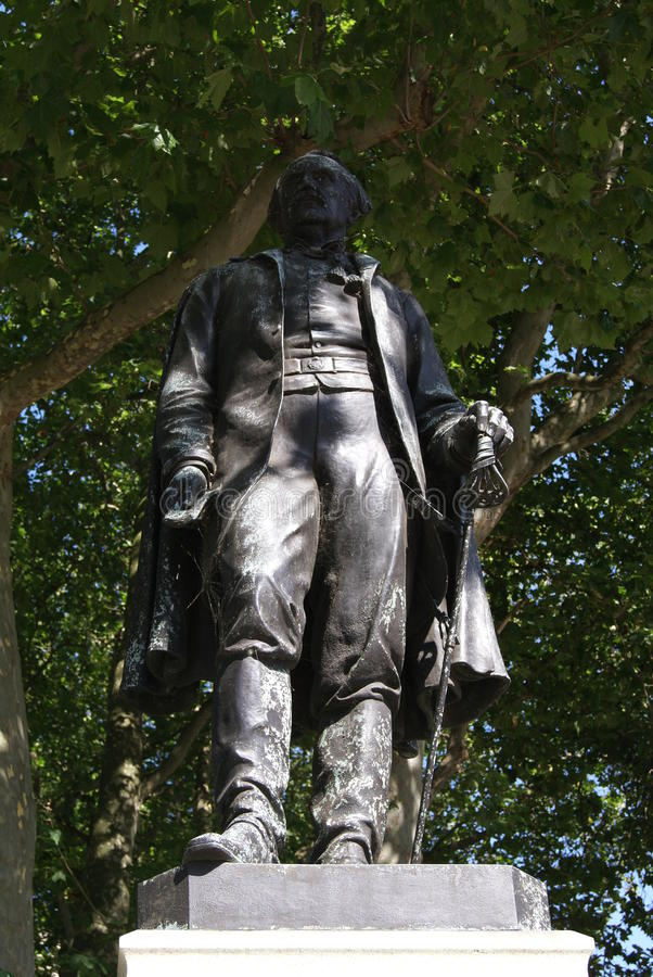 Statue of Sir John Lawrence, Waterloo, London, England. Statue of Sire John Lawrence, an English merchant who was Lord Mayor of London in 1664 stock photos