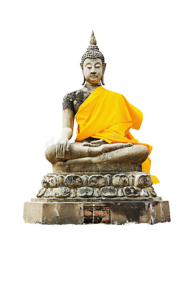 Statue of a sitting Buddha stock photo