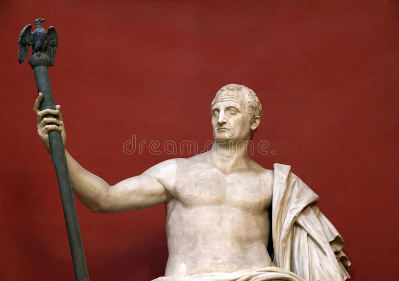 Statue Of Sitting Caesar Royalty Free Stock Photos