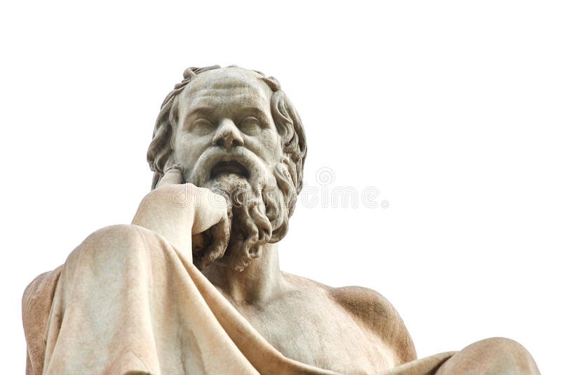 Statue of Socrates in Athens. Statue of ancient Greek philosopher Socrates in Athens stock images