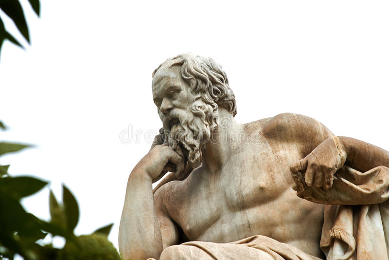 Statue of Socrates in Athens. Statue of ancient Greek philosopher Socrates in Athens royalty free stock images