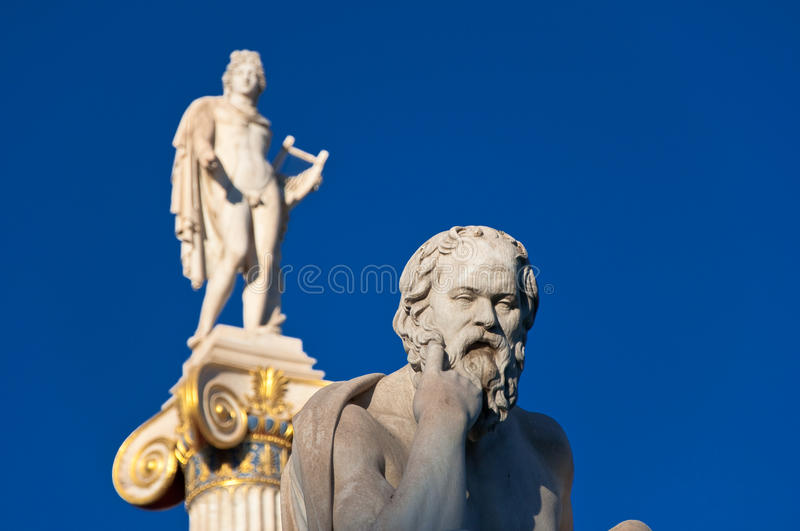 The statue of Socrates. Athens, Greece. The statue of Socrates on August 4, 2013 in Athens, Greece royalty free stock images
