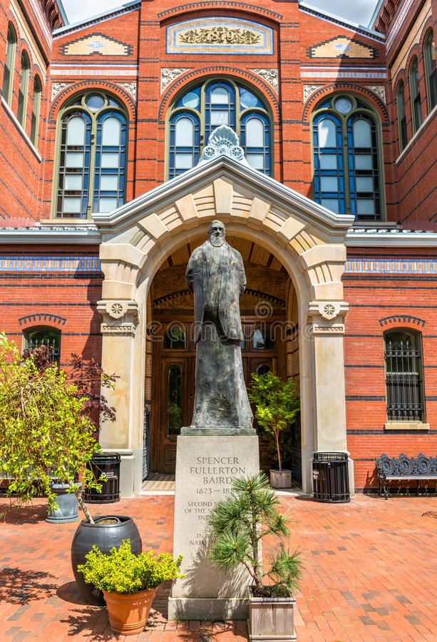 Statue of Spencer Fullerton Baird at the Smithsonian museums in Washington, D.C. United States royalty free stock photos