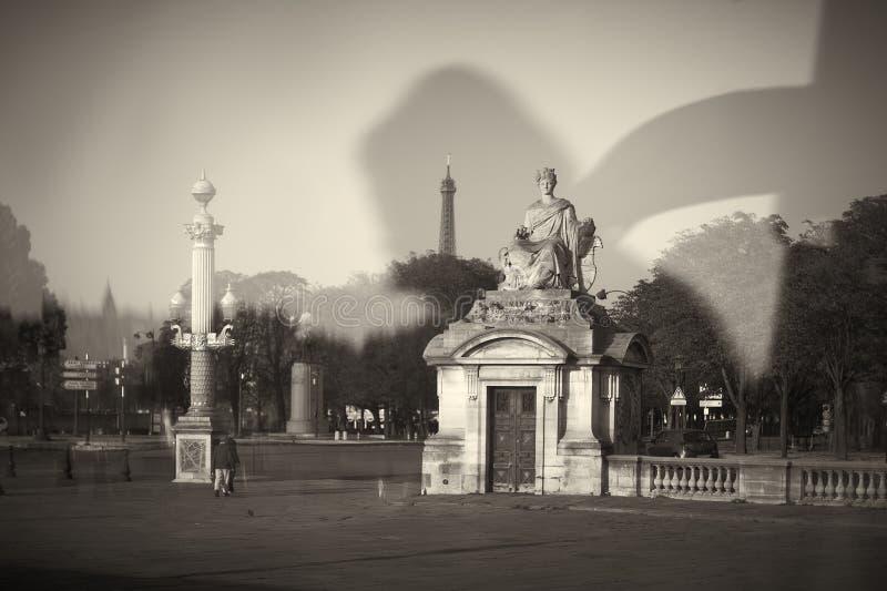 Statue. Square travel window Paris royalty free stock photo
